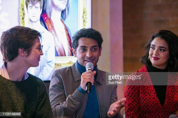 Writer Simon Rich and actors Karan Soni and Geraldine Viswanathan speak on a panel on January 26 2019 in Park City Utah