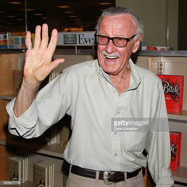 """Writer Stan Lee attends a signing for """"Karakuridoji Ultimo, Volume 1"""" and """"Karakuridoji Ultimo, Volume 2"""" at Barnes & Noble Booksellers at The Grove..."""