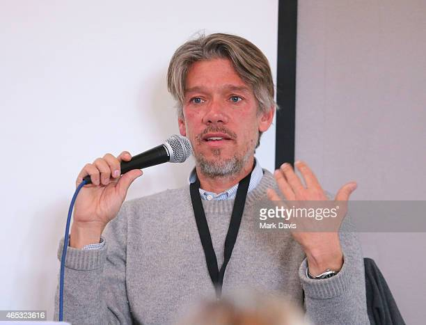 Writer Stephen Gaghan speaks to the audience at the 4th Annual Sun Valley Film Festival on March 5 2015 in Sun Valley Idaho