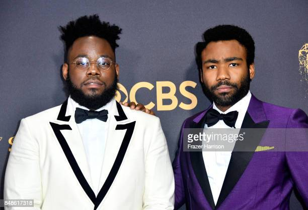 Writer Stephen Glover and actor Donald Glover attend the 69th Annual Primetime Emmy Awards at Microsoft Theater on September 17 2017 in Los Angeles...
