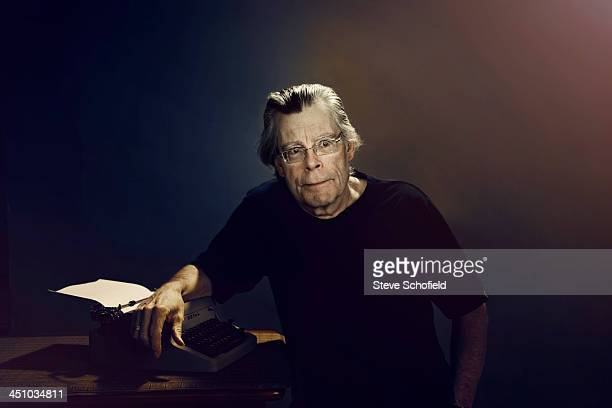Writer Stephen King is photographed for the Guardian on August 8 2013 in Bangor Maine