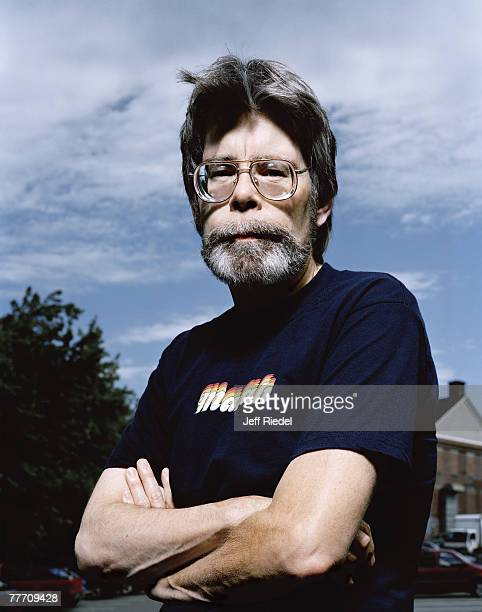 Writer Stephen King is photographed for The New York Times Magazine in June 2000 in Bangor Maine