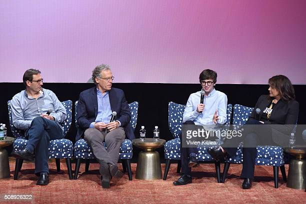 Writer Steve Kornacki Executive Producer Carlton Cuse Actor and Writer Freddie Highmore and Executive Producer Kerry Ehrin speak at the Bates Motel...