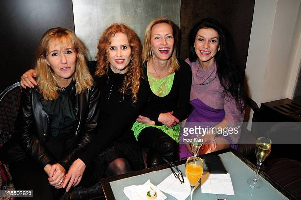 Writer Sylvie Bourgeois Harel actresses Florence Darel Gabrielle Lazure and Jovanka Sopalovic attend the 'Imposteur' Sylvie Bourgeois Book Launch...