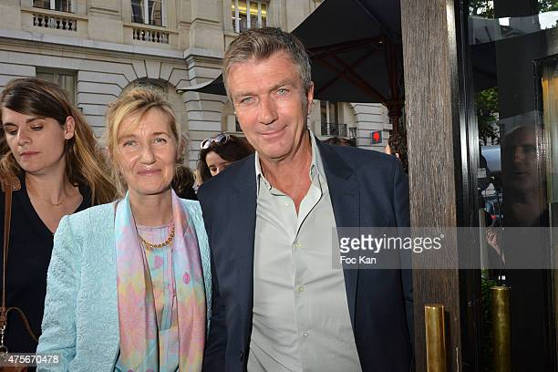 Writer Sylvie Bourgeois Harel and actor Philippe Caroit attend the Marie Claire Magazine Litterary Awards 2015 At le Montalembert on June 2 2015 in...