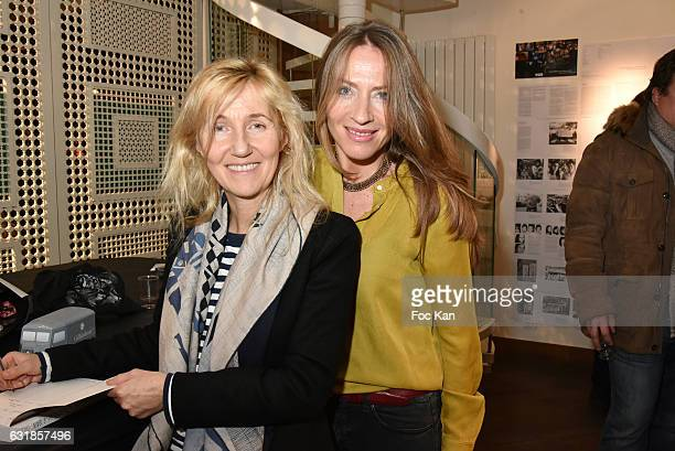 Writer Sylvie Bourgeois Harel and Carole Weiss attend 'Sylvie A Saint Tropez' Sylvie Bourgeois Harel Book Signing at Librairie Des Femmes on January...