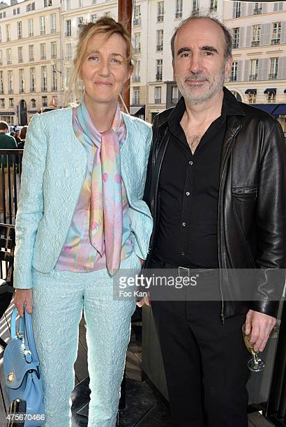 Writer Sylvie Bourgeois Harel and director Philippe Harel attend the Marie Claire Magazine Litterary Awards 2015 At le Montalembert on June 2 2015 in...
