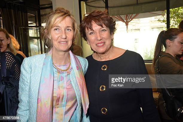 Writer Sylvie Bourgeois Harel and Minister Roselyne Bachelot attend the Marie Claire Magazine Litterary Awards 2015 At le Montalembert on June 2 2015...
