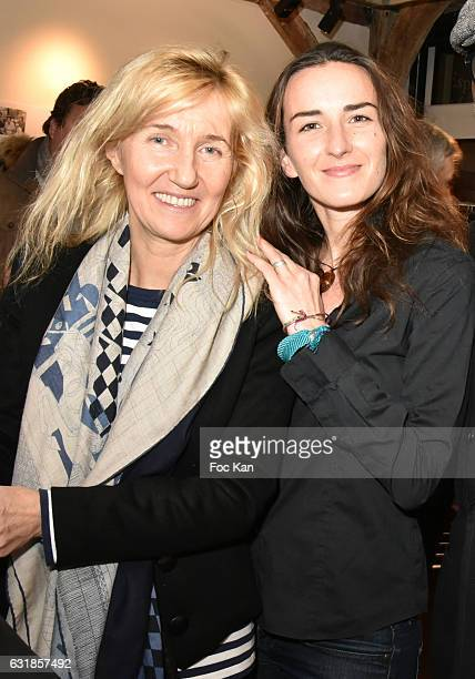 Writer Sylvie Bourgeois Harel and Salome Stevenin attend 'Sylvie A Saint Tropez' Sylvie Bourgeois Harel Book Signing at Librairie Des Femmes on...