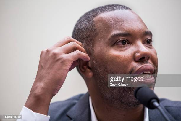 Writer Ta-Nehisi Coates testifies during a hearing on slavery reparations held by the House Judiciary Subcommittee on the Constitution, Civil Rights...