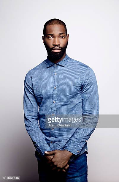 Writer Tarell Alvin McCraney from the film Moonlight poses for a portraits at the Toronto International Film Festival for Los Angeles Times on...