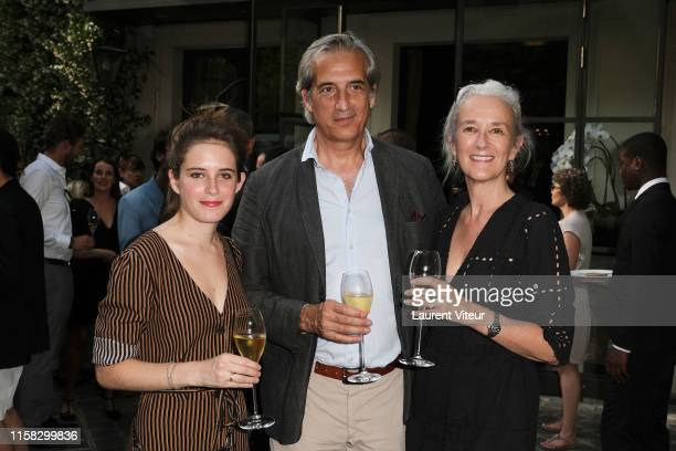 Writer Tatiana de Rosnay , her husband Nicolas Jolly and her daughter Charlotte Jolly attend the Millesime Champagne Rose 2008 By Maison Piper...
