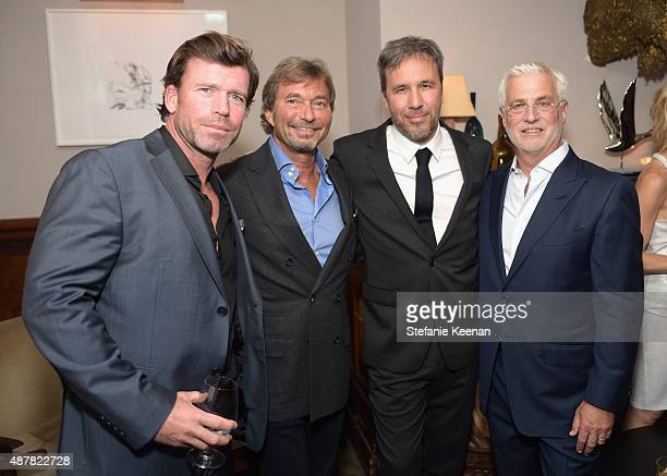 Writer Taylor Sheridan producer Patrick Wachsberger director Denis Villeneuve and CoChairman of Lionsgate Motion Picture Group Rob Friedman attend...