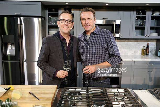 Writer Ted Allen and Chef Marc Murphy attends the Grand Tasting presented by ShopRite featuring Samsung Culinary Demonstrations presented by...