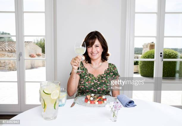 Writer television producer and presenter Daisy Goodwin is photographed for the Daily Mail on October 7 2017 in Menorca Spain