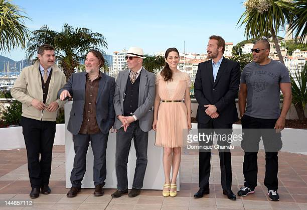 Writer Thomas Bidegain, actor Bouli Lanners, director Jacques Audiard, actress Marion Cotillard, actor Matthias Schoenaerts and actor Jean-Michel...