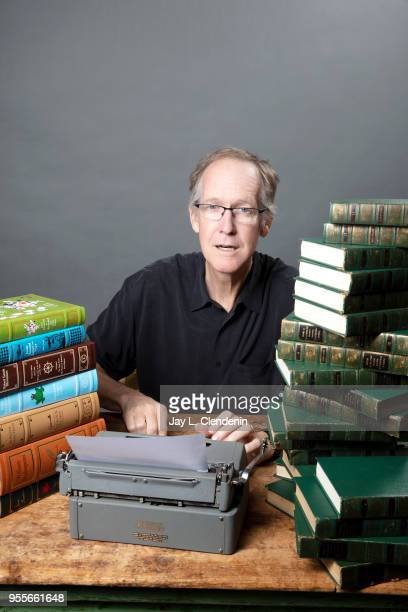 Writer Thomas Curwen is photographed for Los Angeles Times on April 21 2018 in the LA Times Studio at the Los Angeles Times Festival of Books at the...