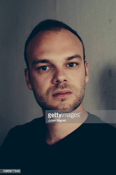 Writer Thomas Flahaut poses for a portrait on September 2018 in Paris France