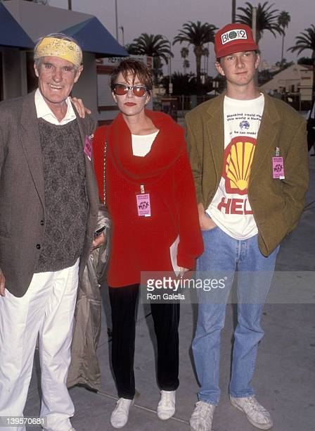 Writer Timothy Leary wife Barbara Chase and son Zachary Leary attend the Screening of the Rolling Stones Movie Concert At the Max on October 21 1991...