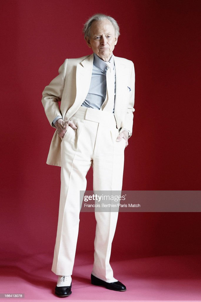 Writer Tom Wolfe is photographed for Paris Match on March 29, 2013 in London, England.