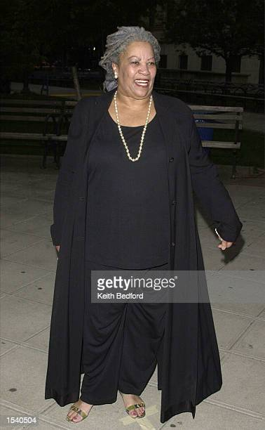 Writer Toni Morrison arrives for a party to launch the Tribeca Film Festival May 7 2002 in New York City