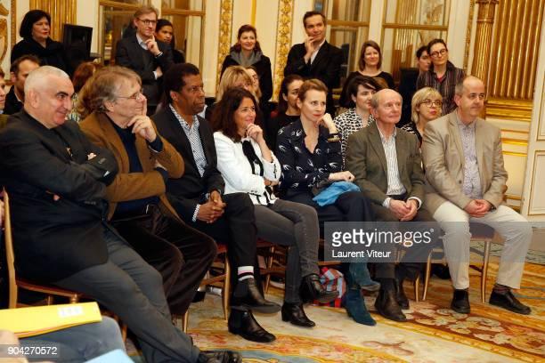 Writer Tonino Benacquista Daniel Pennac Dany Laferriere Karine Tuil Agns MathieuDaude JeanLouis Etienne and guest attend 'La Nuit de la Lecture'...