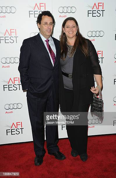 Writer Tony Kushner and actress Camryn Manheim arrive at the Lincoln premiere during AFI Fest 2012 presented by Audi at Grauman's Chinese Theatre on...