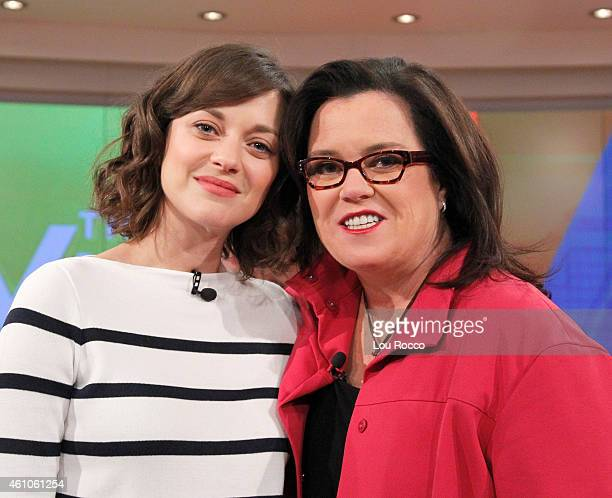 THE VIEW Writer Tracey Wigfield and Tony Gonzalez guest cohost Guests include Marion Cotillard and Margaret Cho today Monday January 5 2015 on ABC's...