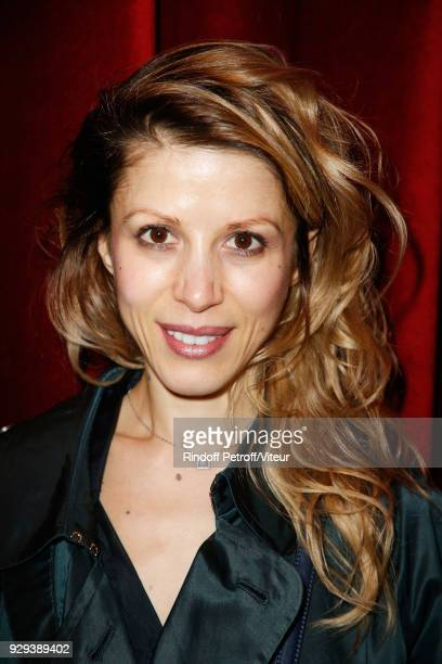 Writer Tristane Banon attends 'Les Monologues du Vagin' during 'Paroles Citoyennes 10 shows to wonder about the society' at Bobino on March 8 2018 in...