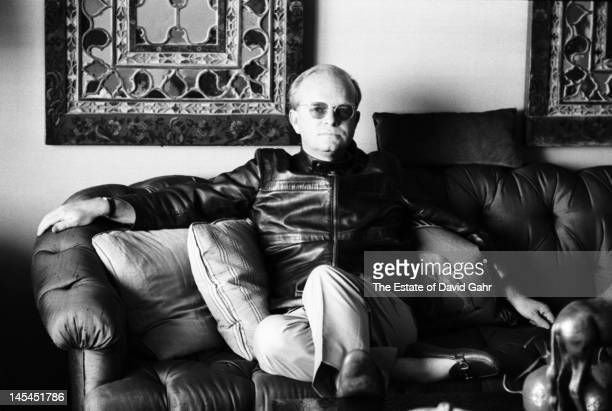 Writer Truman Capote poses for a portrait at his home near the United Nations Plaza on April 12 1969 in New York City New York