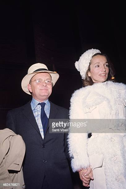 Writer Truman Capote with Lee Radzwill on June 6, 1969 in New York, New York.