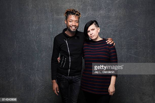 Writer Twiggy Pucci Garcon and and writer/director Sara Jordeno from the film 'Kiki' pose for a portrait at the 2016 Sundance Film Festival on...