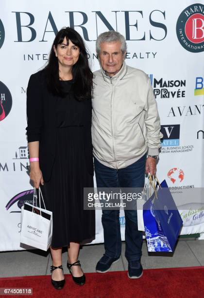Writer Valerie Perrin and director Claude Lelouch attend the Barnes Los Angeles afterparty at COLCOA A Week Of French Film Premieres In Hollywood on...