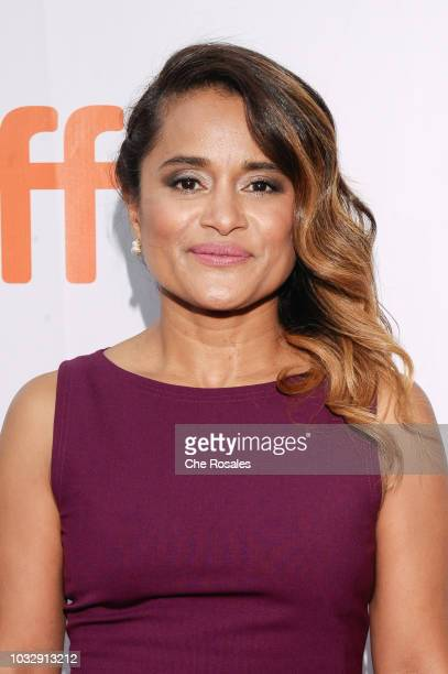 Writer Veena Sud attends 'The Lie' premiere at Roy Thomson Hall on September 13 2018 in Toronto Canada