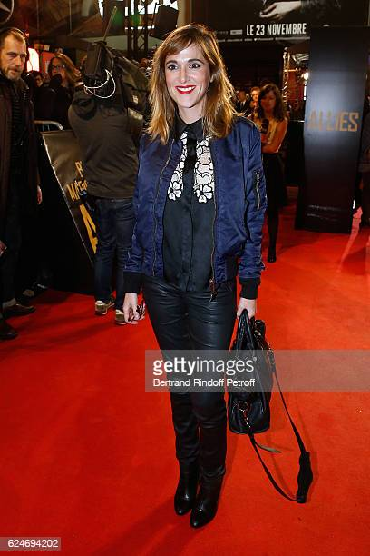 Writer Victoria Bedos attends the 'Allied Allies' Paris Premiere at Cinema UGC Normandie on November 20 2016 in Paris France