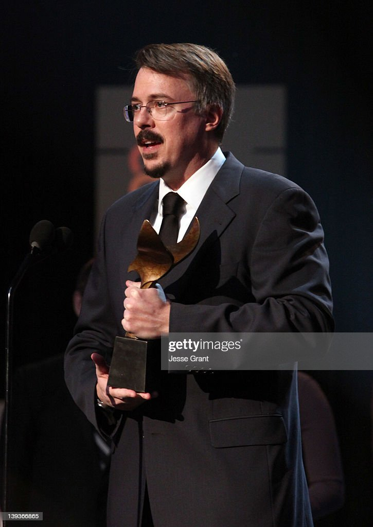 Writer Vince Gilligan accepts the Outstanding Writing in a Drama Series award for 'Breaking Bad' during the 2012 Writers Guild Awards at the Hollywood Palladium on February 19, 2012 in Los Angeles, California.