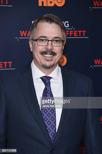Writer Vince Gilligan attends 'Becoming Warren Buffett' World Premiere at The Museum of Modern Art on January 19 2017 in New York City