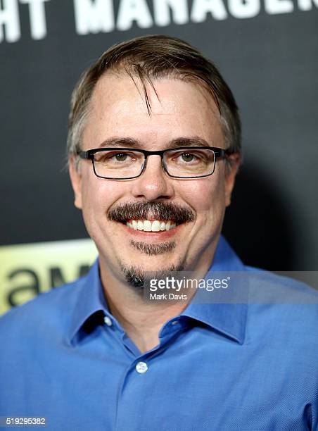 Writer Vince Gilligan attends the premiere of AMC's The Night Manager at DGA Theater on April 5 2016 in Los Angeles California