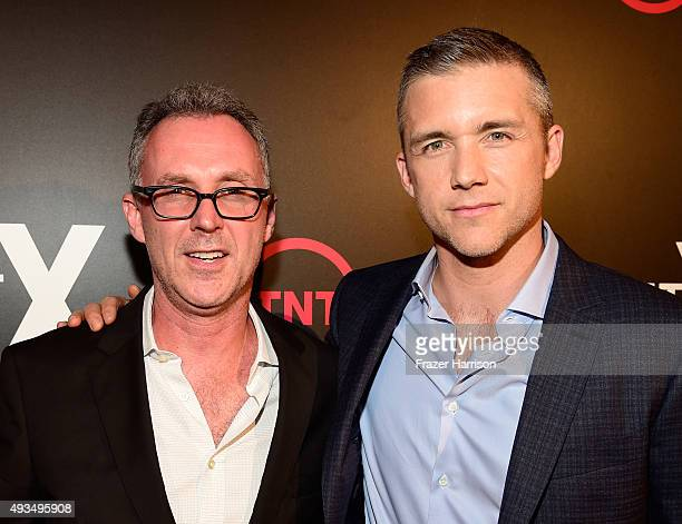Writer W Blake Herron and actor Jeff Hephner attends TNT's Agent X screening at The London West Hollywood on October 20 2015 in West Hollywood...