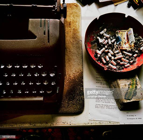 Writer Ward Just's desk is photographed for Vanity Fair Magazine on December 26 1996 at home in Martha's Vineyard Massachusetts PUBLISHED IN JONATHAN...