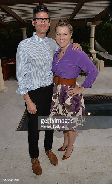 Writer Will McCormack and Krista Smith West Coast Editor Vanity Fair attend a reception to celebrate Rashida Jones' New Glamour Column hosted by...