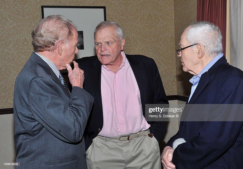 Writer William Kennedy, actor Brian Dennehy and journalist