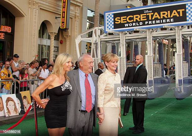 Writer William Nack and his guest attend the 'Secretariat' film premiere at The El Capitan theater on September 30 2010 in Hollywood California