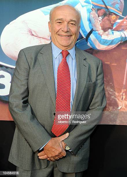 Writer William Nack arrives at the premiere of Walt Disney Pictures' 'Secretariat' at the El Capitan Theatre on September 30 2010 in Hollywood...