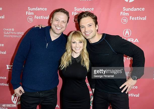 Writer Winston Rauch writer/actress Melissa Rauch and actor Sebastian Stan attend The Bronze Premiere at the Eccles Center Theatre during the 2015...