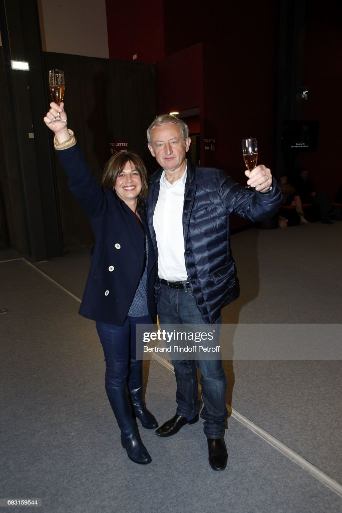 Writer Yann Queffelec and his wife Violaine Queffelec attend Tribute To Jean-Claude Brialy during 'Journees Nationales du Livre et du Vin'on May 14, 2017 in Saumur, France.