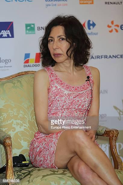 Writer Yasmina Reza attends 'Prix del Dialogo' award 2016 press conference on June 7 2016 in Madrid Spain