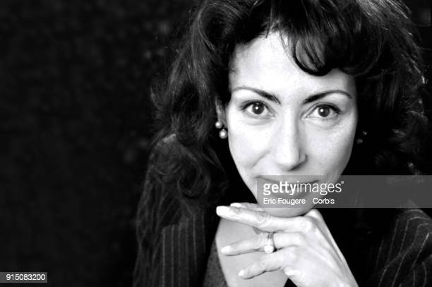 Writer Yasmina Reza poses during a portrait session in Paris France on