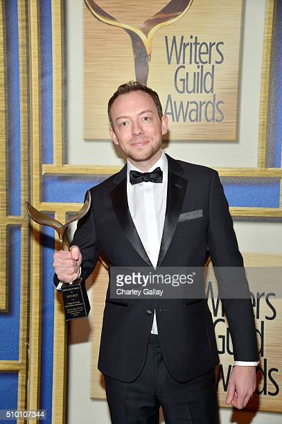 Writer Zach Craley winner of Outstanding Writing Adapted Short Form New Media for 'Heroes Reborn Dark Matters' poses in the Press Room during the...