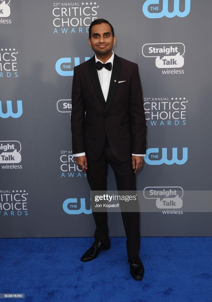 Writer-actor Aziz Ansari attends The 23rd Annual Critics' Choice Awards at Barker Hangar on January 11, 2018 in Santa Monica, California.